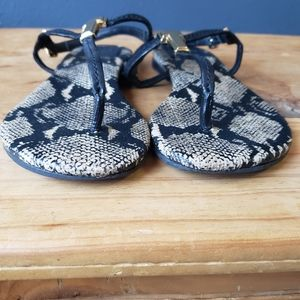 Tory Burch Shoes - Tory Burch T Strap Thong Sandals Snake Print Sz 7